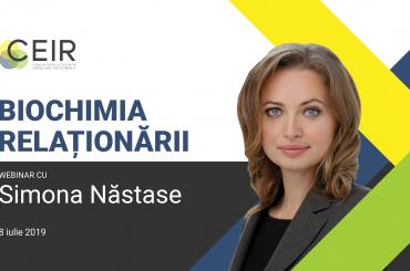 "Simona Năstase: ""Biochimia Relaționării"" – 8 iulie 2019"
