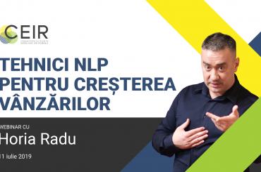 """Horia Radu: """"Tehnici NLP pentru creșterea vânzărilor"""" – 11 Iulie 2019"""
